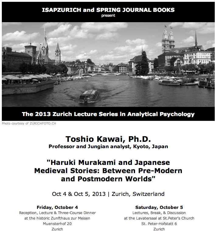 Prof. Toshio Kawai to present Zurich Lecture Series on Oct 4 & Oct 5, 2013, Zurich, Switzerland