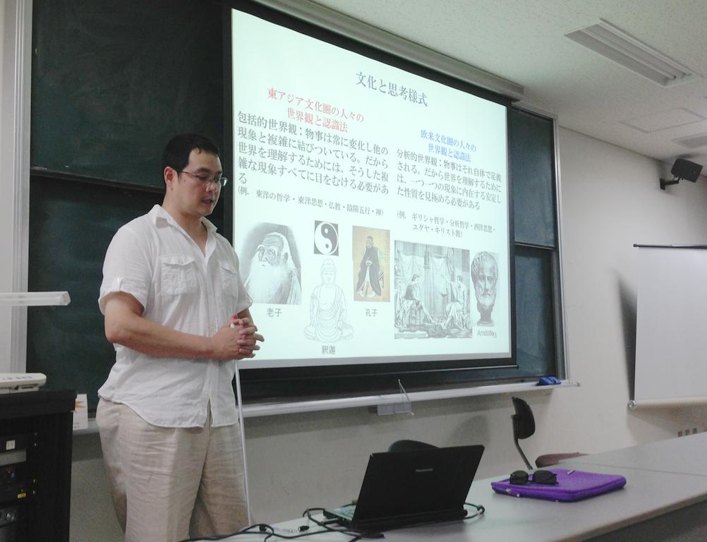 増田准教授(アルバータ大学)の講演会が人間・環境学研究科で開催されました