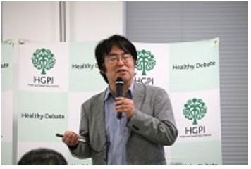 広井教授が日本医療政策機構のフォーラムで「持続可能な医療とこれからの社会構想」と題する講演を行いました