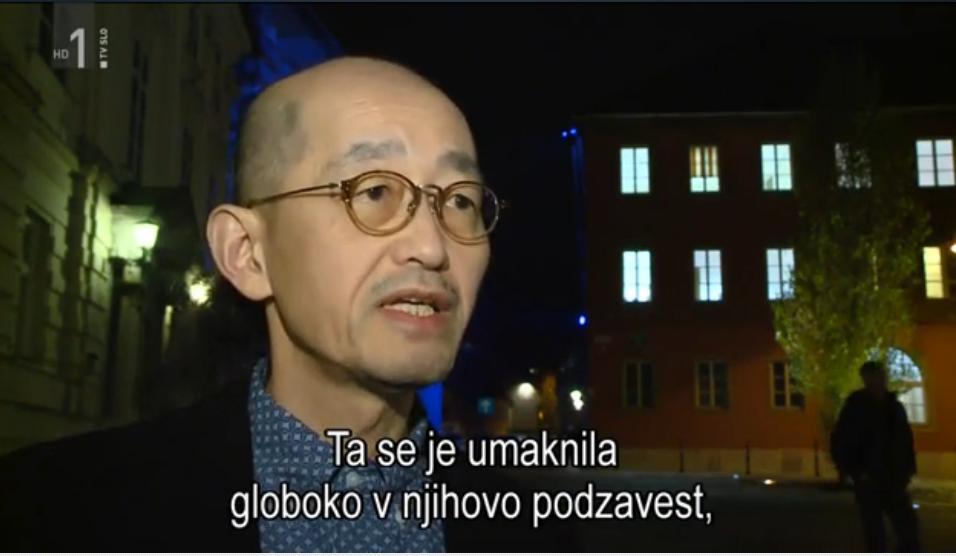 吉岡教授がスロベニア芸術科学アカデミーでのシンポジウムに登壇。スロベニアのTVニュースで放映されました