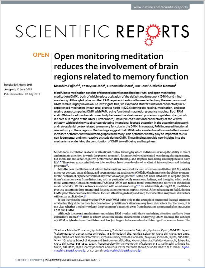 A Paper by Dr. Ueda et al. Published in <span>Scientific Reports</span>