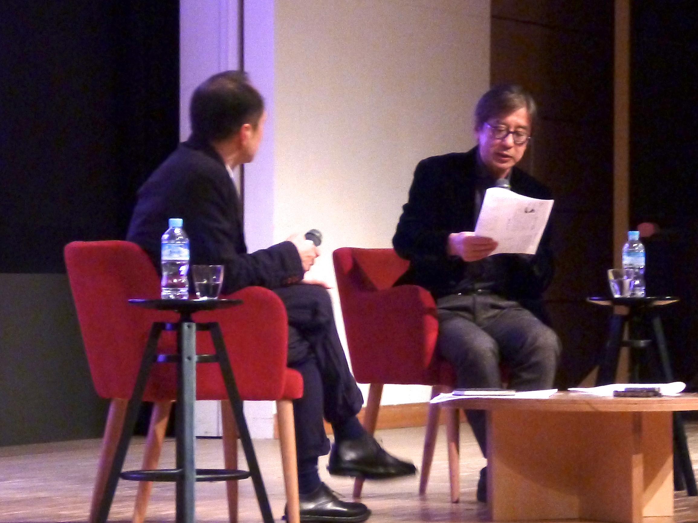 河合教授が明治大学の公開講座「南方熊楠の新次元」で中沢新一氏と対談しました