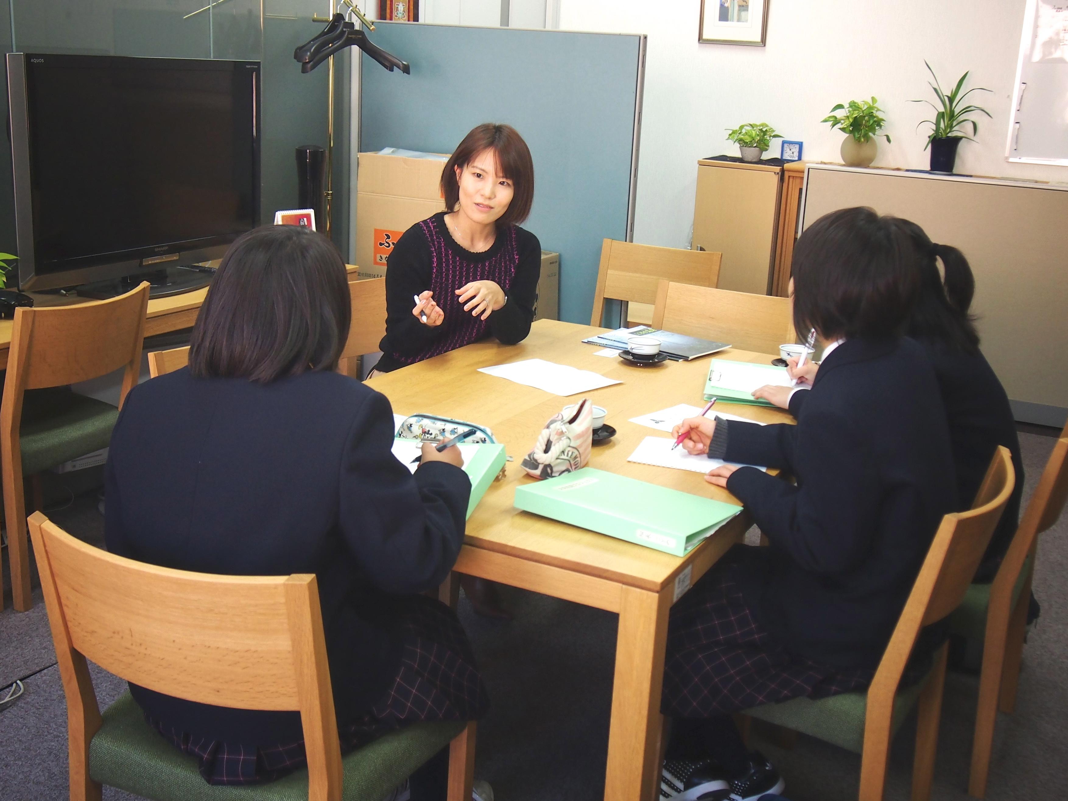 岡山操山中学校の生徒さんがセンターを訪問しました