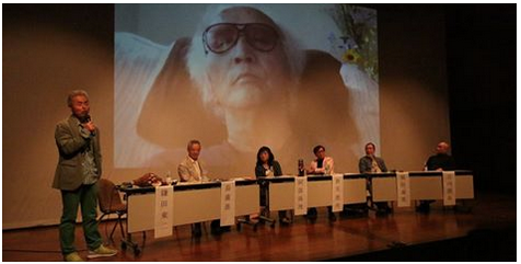 鎌田教授が『「久高オデッセイ」第三部 風章』完成上映会に登壇し、映画の紹介記事が朝日新聞に掲載されました